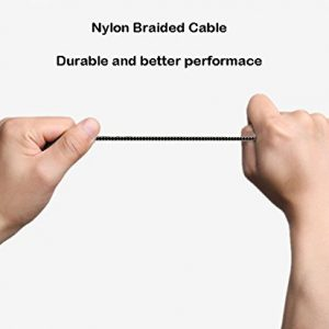 Anbee Nylon Braided Mavic Lightning to Micro-USB Cable, Android Micro-USB Cable for DJI Mavic Pro Drone, Fits iOS / Android Cellphone and Tablets (Lightning to Micro-USB Cable for iPad)