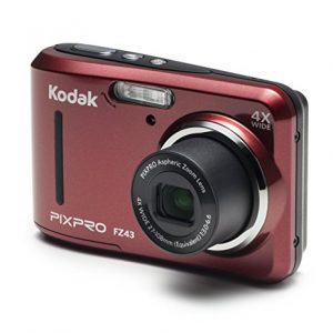 Kodak PIXPRO Friendly Zoom FZ43 16 MP Digital Camera with 4X Optical Zoom and 2.7″ LCD Screen (Red)