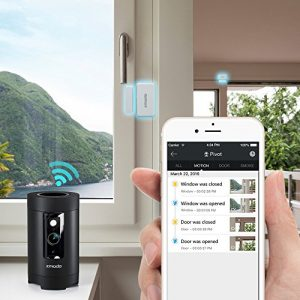 Zmodo Pivot 1080p HD 360° Rotating Wireless All-in-one Security Camera System with 2 Pack Door Window Sensor