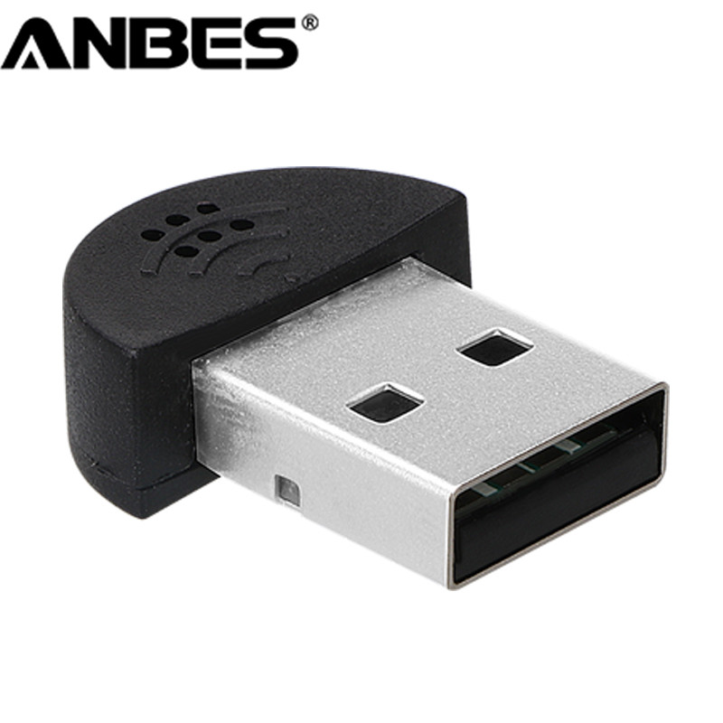 Super Mini USB 2.0 Microphone Portable Studio Speech MIC Audio Adapter Driver Free for MSN PC Notebook Lectures Teaching