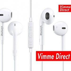 Earbuds, Vimme iPhone Headphones with Microphone Stereo Earphones with Mic and Remote Control for iPhone 6s 6 Plus 5s 5 4s 4 SE 5C iPad iPod 7 8 7s IOS S8 S7 S6 Note 1 2 3 In Ear Earphones Earbuds