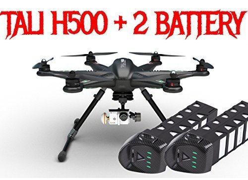 Tali H500 Carbon Fiber (USA) FPV Drone DEVO F12E G-3D Gimbal and iLook+ camera + Free Extra Battery Scorpion Drones Bundle