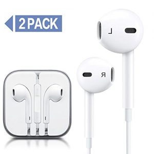 Earphones,2-Pack iPhone Earbuds Stereo Earphones with Microphone Headphones with Mic and Remote Control Earbuds for Apple iPhone 6s 6 Plus 5s 5 5c 4s 4 SE Galaxy S8 S7 S6 IOS 7 8 Android Earbuds