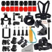 FeoconT Accessories Kit for GoPro Hero 5 /Hero 5 session/ Hero Session/ Hero 4 3+ 3 2 Xiaomi Yi and other Outdoor Action Camera