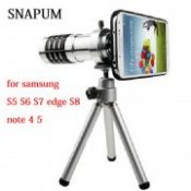 cellphone mobile phone 12x Camera Zoom optical Telescope lenses telephoto Lens For Samsung galaxy S4 S5 S6 S7 edge S8 note 3 4 5