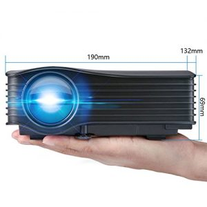 DeepLee DP36 LED LCD Mini Projector, 120″ Home Theater Video Projector with AV USB SD Card HDMI for Home Cinema Video Game Courtyard Movie Night Support PC Laptop PS3/PS4 Xbox Wii Projector – Black