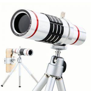 KRY 18x lentes Universal Zoom Camera Phone Lens Optical Telescope Telephoto Lenses Tripod For iPhone 5s lens 6 6s 7 Plus Lens