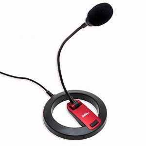Connectland Goose Neck Tabletop Stereo Microphone with Stand Online Chat Recording Laptop Desktop PC CL-ME-606