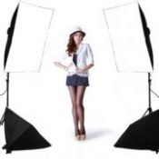 FREE SHIPPING single lamp softbox 4 lamp set photography light softbox set photographic equipment Photo Studio Equipment Set