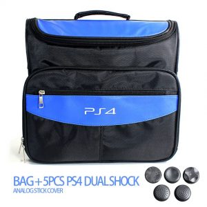 Game Accessories for PS4 & PS4 Slim bag Travel Carry Shoulder Bag For Sony PS4 VR Playstation 4 Console + 5pcs Analog Cap