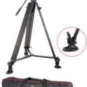 1.8M Viltrox VX-18M Pro Heay Duty Aluminum Video Tripod + Fluid Pan Head + Carry Bag for Camera DV DSLR Very Stable