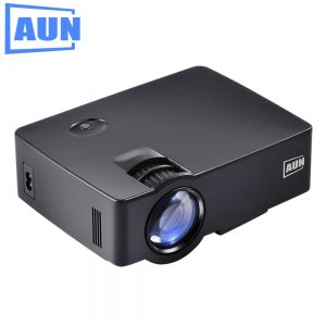 AUN Projector 1800lumens AKEY1/AKEY1X MINI Beamer for Home Theater, Low Noise LED Proyector HDMI Full HD 1080P Video LED TV